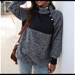 Sherpa Fleece Pullover Sweater